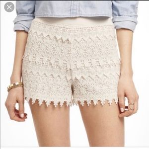 Express White Lace Shorts